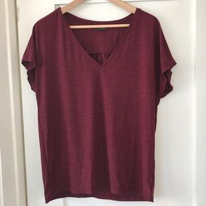 Banana Republic loose fit t-shirt, dark red, EUC